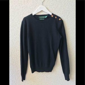 🎉 Ralph Lauren 💯 cashmere navy sweater PS